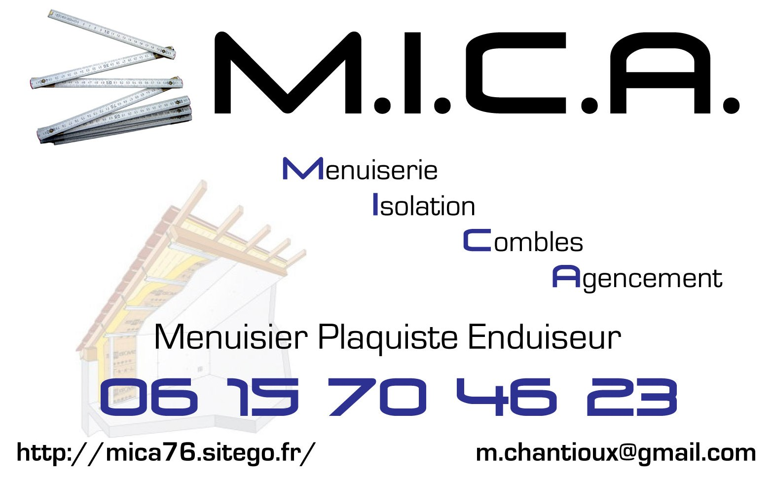 Menuisier-Plaquiste  MICA  76