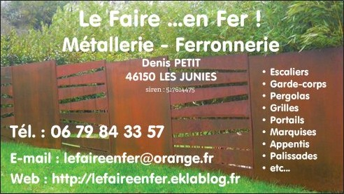 Ferronnerie-Métallerie-Serrurerie-Pose de menuiseries – CAHORS