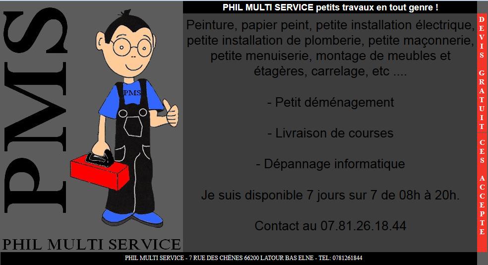 PHIL MULTI SERVICE petits travaux en tout genre
