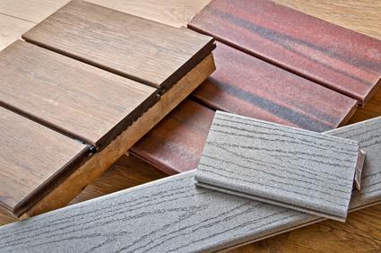 Echantillons de bois pour une terrasse