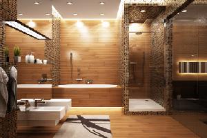 Les salles de bains for Salle de bain couleur chaude